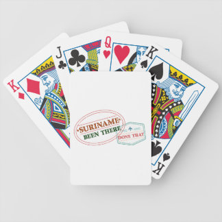 Suriname Been There Done Bicycle Playing Cards