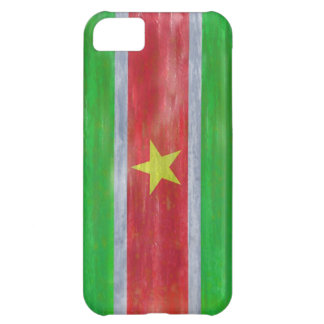 Suriname distressed flag case for iPhone 5C