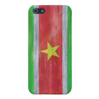Suriname distressed flag iPhone 5/5S cases