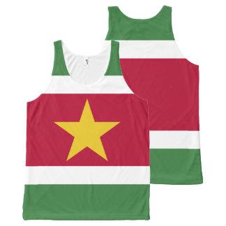Suriname Flag All-Over-Print Tank Top