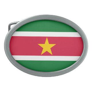 Suriname Flag Belt Buckle