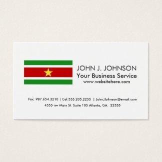 Suriname Flag Business Card