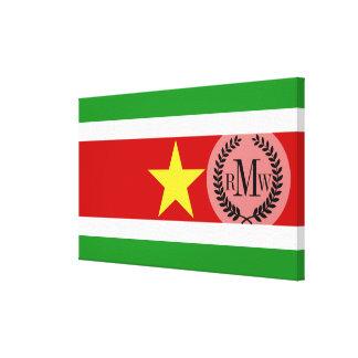 Suriname Flag Canvas Print