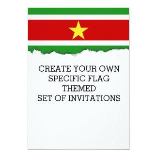Suriname Flag Card