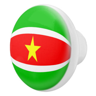 Suriname Flag Ceramic Knob