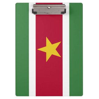 Suriname Flag Clipboard