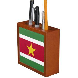 Suriname Flag Desk Organizer