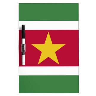 Suriname Flag Dry Erase Board