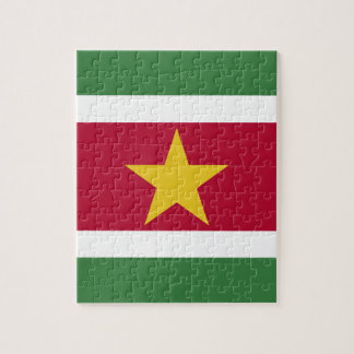 Suriname Flag Jigsaw Puzzle