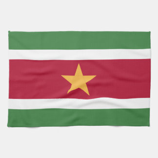 Suriname flag kitchen towel