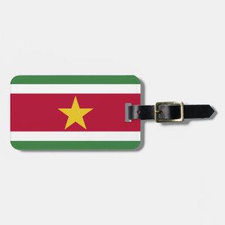 Suriname Flag Luggage Tag