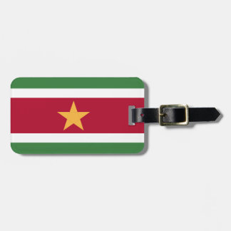Suriname flag luggage tag