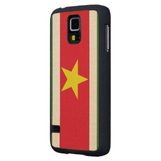 Suriname Flag Maple Galaxy S5 Slim Case