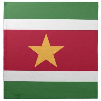 Suriname flag napkin