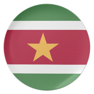 Suriname flag party plate