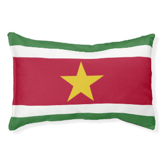 Suriname Flag Pet Bed