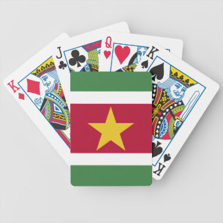 Suriname Flag Poker Deck