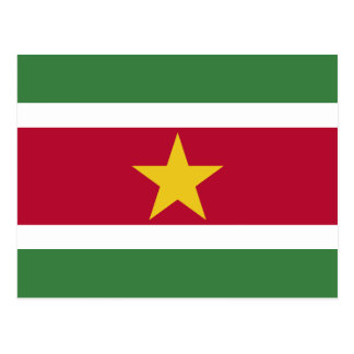 Suriname Flag Postcard