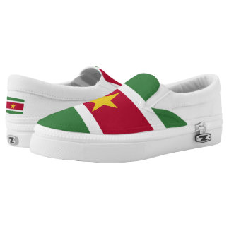 Suriname Flag Slip-On Sneakers