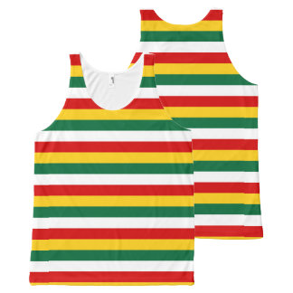 Suriname flag stripes lines pattern All-Over-Print tank top