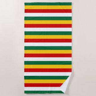 Suriname flag stripes lines pattern beach towel