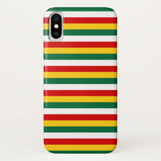 Suriname flag stripes lines pattern iPhone x case