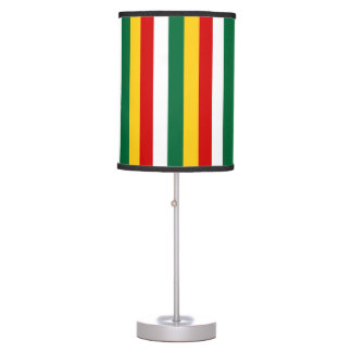 Suriname flag stripes lines pattern table lamp