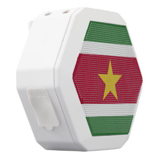 Suriname Flag White Bluetooth Speaker