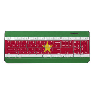 Suriname Flag Wireless Keyboard