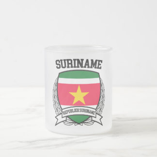 Suriname Frosted Glass Coffee Mug