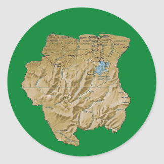 Suriname Map Sticker