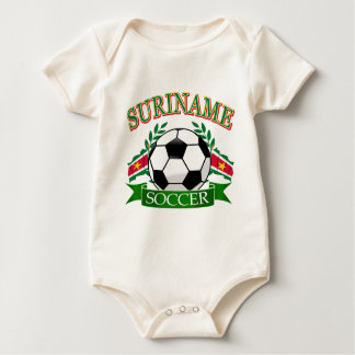Suriname soccer ball designs baby bodysuit