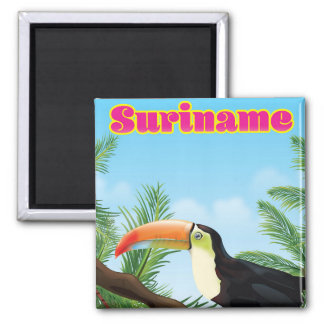 Suriname South american paradise travel poster Magnet