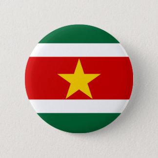 suriname surinam country flag nation symbol 2 inch round button