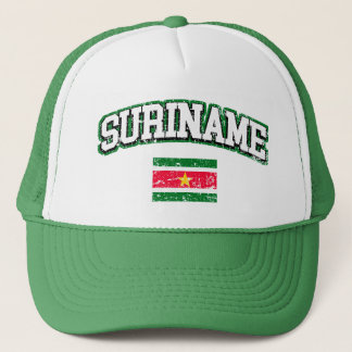 Suriname Vintage Flag Trucker Hat