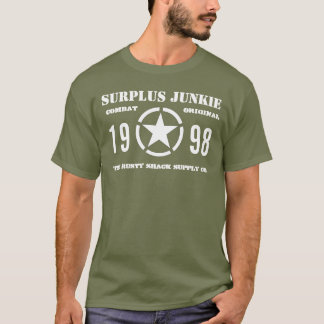 """Surplus Junkie"" OD (Olive Drab) T-Shirt"
