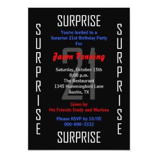Surprise 21st Birthday Party Invitation 21