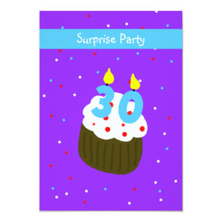 Surprise 30th Birthday Party Invitation Cupcake