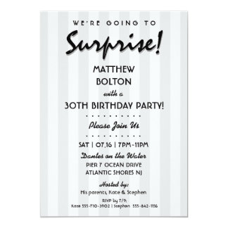 SURPRISE! 30th or Any Birthday Party Invitation