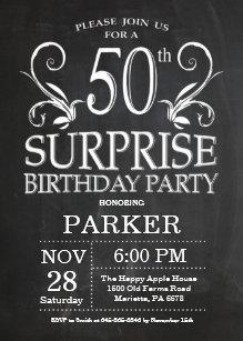 surprise 50th birthday invitations announcements zazzle ca