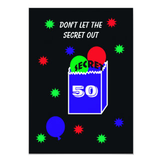 Surprise 50th Birthday Party Invitation SECRET