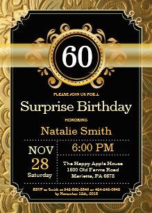 Yellow 60th Birthday Invitations