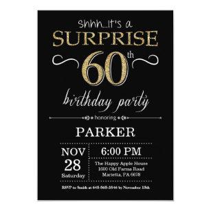 Black And Gold 60th Birthday Gifts On Zazzle CA