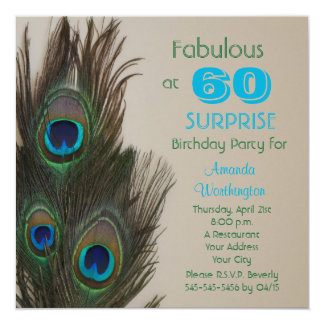 Surprise 60th Birthday Party Invitation Fabulous