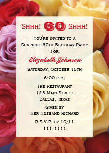 surprise 60th birthday invitations zazzle ca