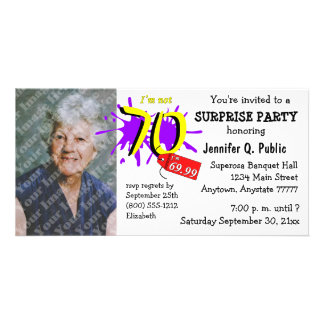 Surprise 70th Birthday Party Photo Invitation