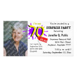Surprise 70th Birthday Party Photo Invitation Photo Card Template