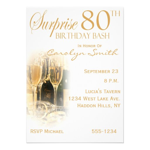 Surprise 80th Birthday Party Invitations | Zazzle