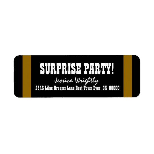 SURPRISE BIRTHDAY Dark Gold Stripes V06