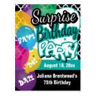 Surprise Birthday Party in Teal | Save the Date Postcard